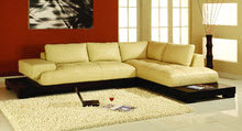 Sleek modern plush L-shaped sectional : sleek sectional sofa - Sectionals, Sofas & Couches
