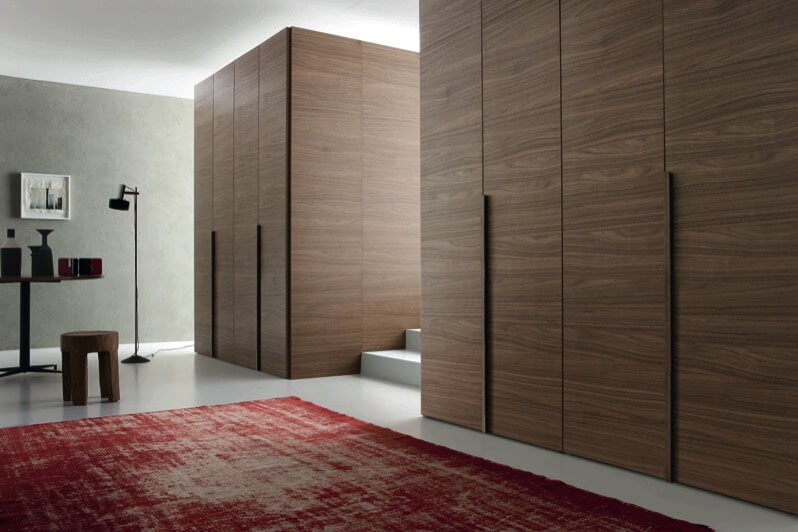 This Room Features A Similar Wall Created Via Uniform, Flush Door Panels,  This Time