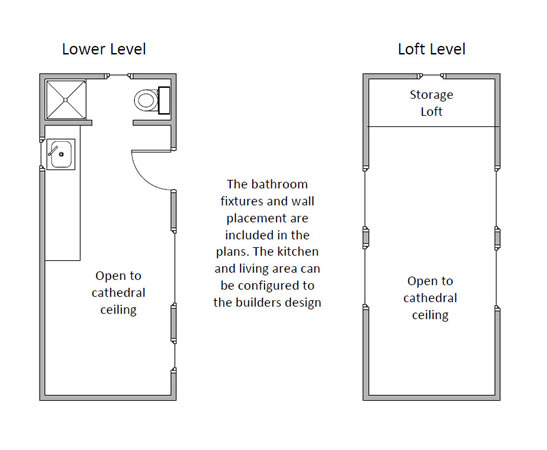 Tiny house floorplan