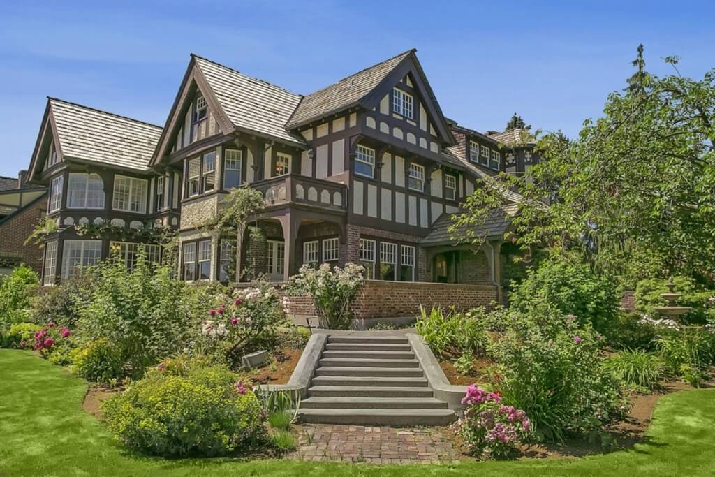 Spectacular tudor mansion in Seattle, WA.