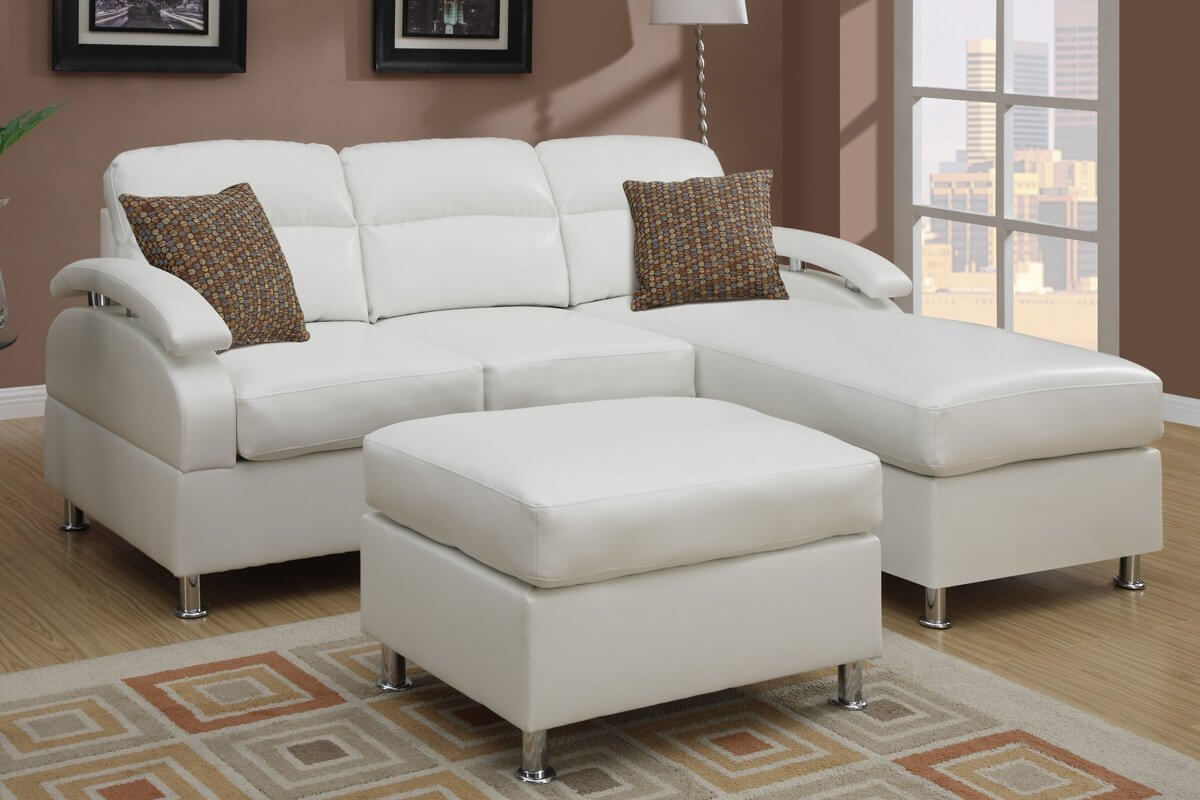 This reversible sectional offers flexibility and makes this a great sofa to take from home to : microfiber sectional sofa with ottoman - Sectionals, Sofas & Couches