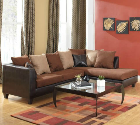 These earth tones bring warmth into any living area.