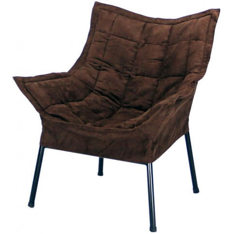 Casual folding-like accent chair.