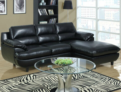This overstuffed bonded leather sectional is perfect for afternoon naps.