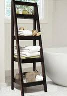 Chocolate Brown Ladder Bathroom Shelf