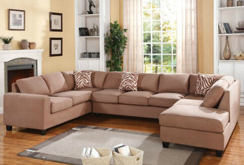This expansive sectional and loveseat combo is definitely the most seating for your money.
