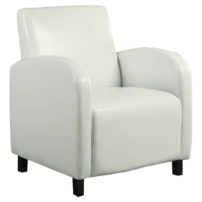 Merveilleux Curved Arch Design Chair From Monarch Specialties Inc. Comprised Of White  Faux Leather Surfaces Over .