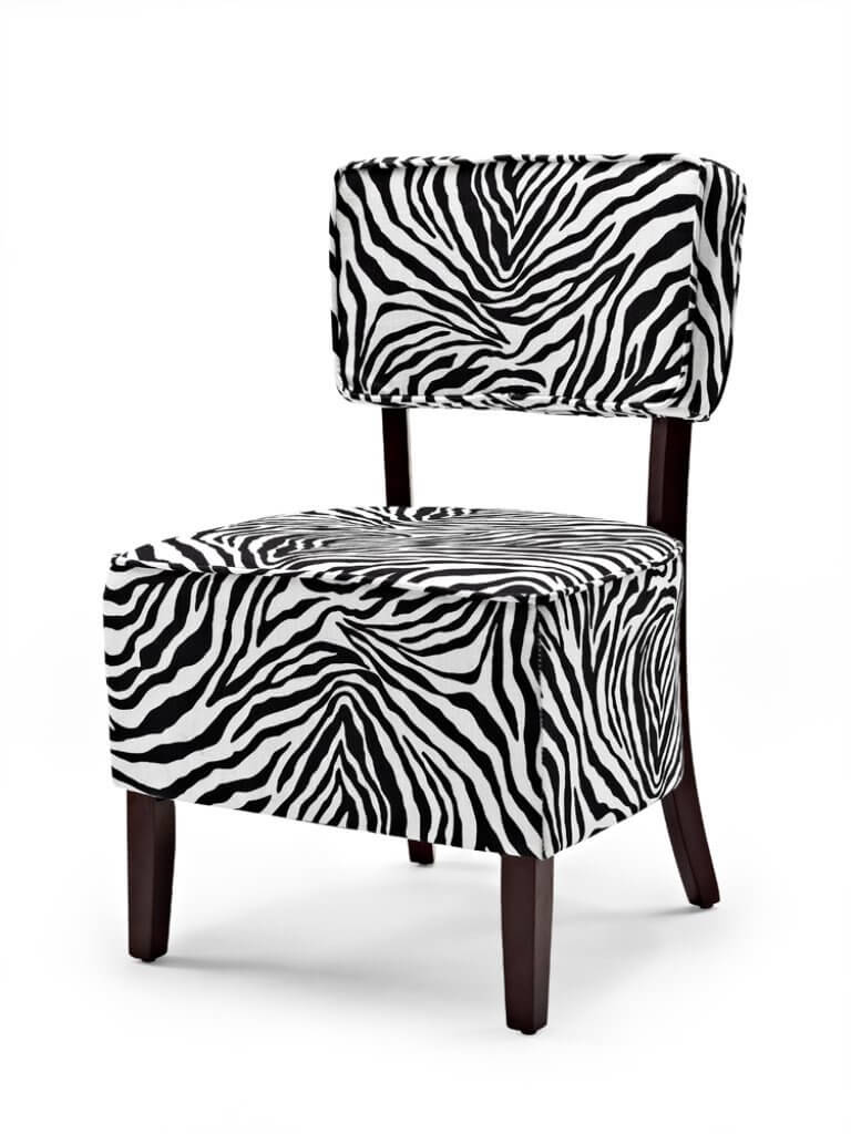 This Zebra Print Accent Chair Is A Great Deal Priced Just Under 100