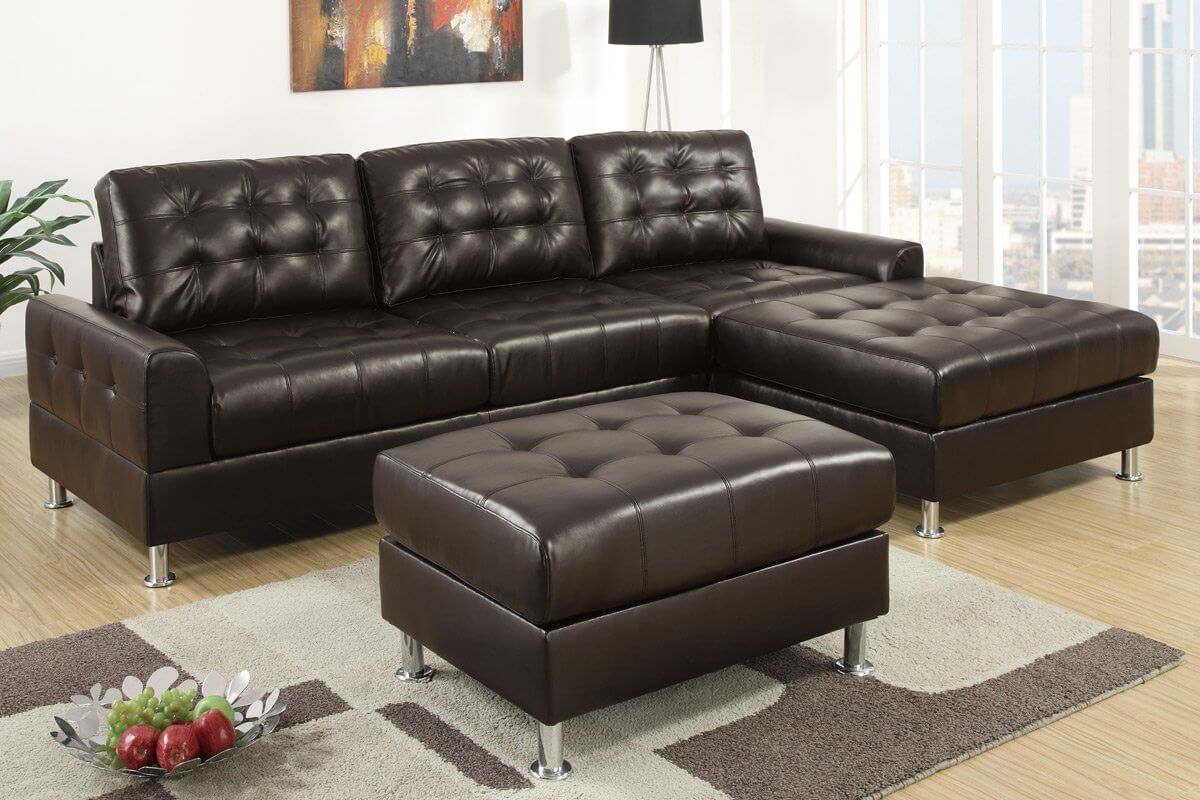 Espresso is always a popular color for furniture because itu0027s simple elegant and easy : simple sectional sofa - Sectionals, Sofas & Couches