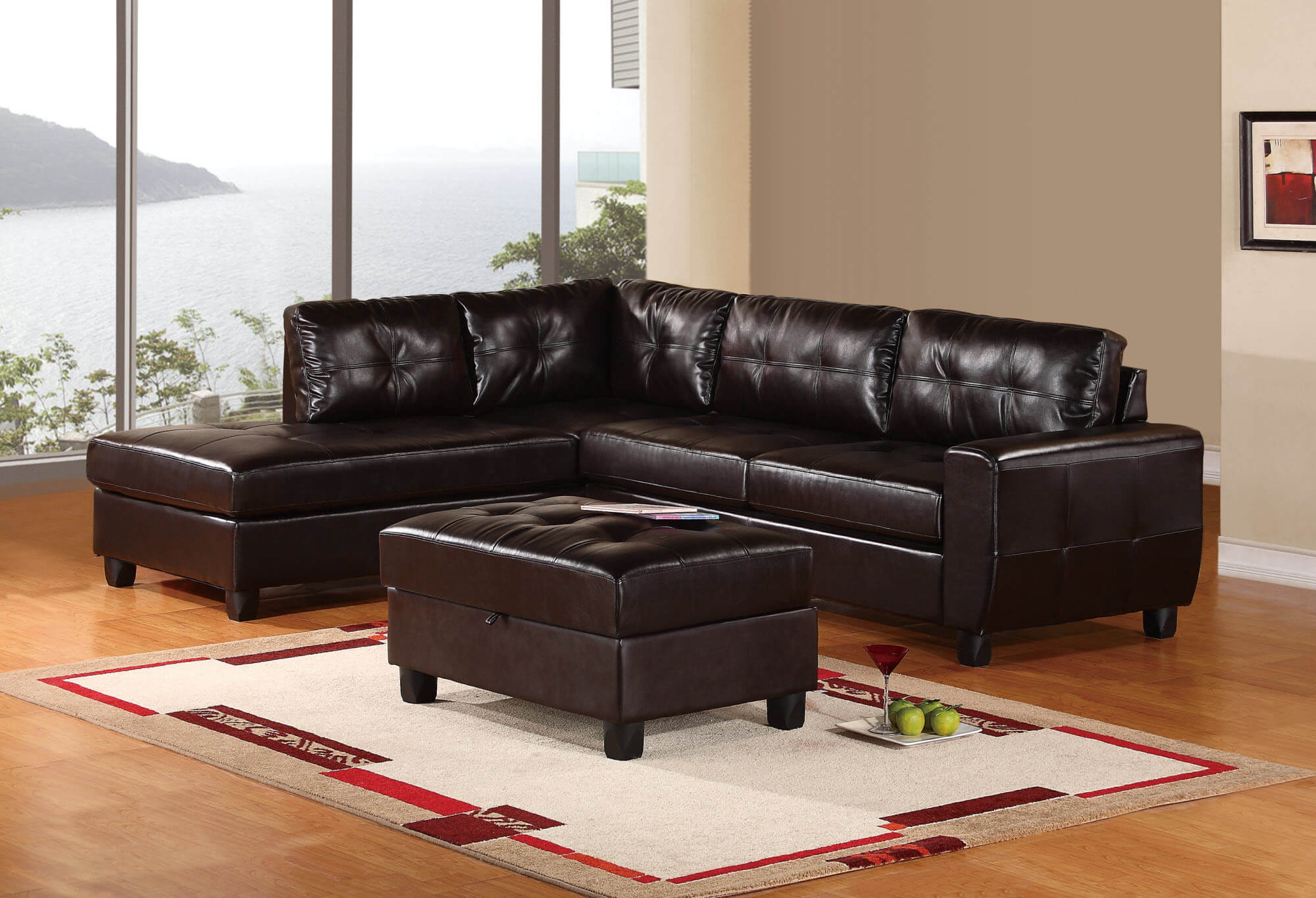 This sectional is simple at first glance.