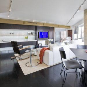 Spacious open concept modern living room