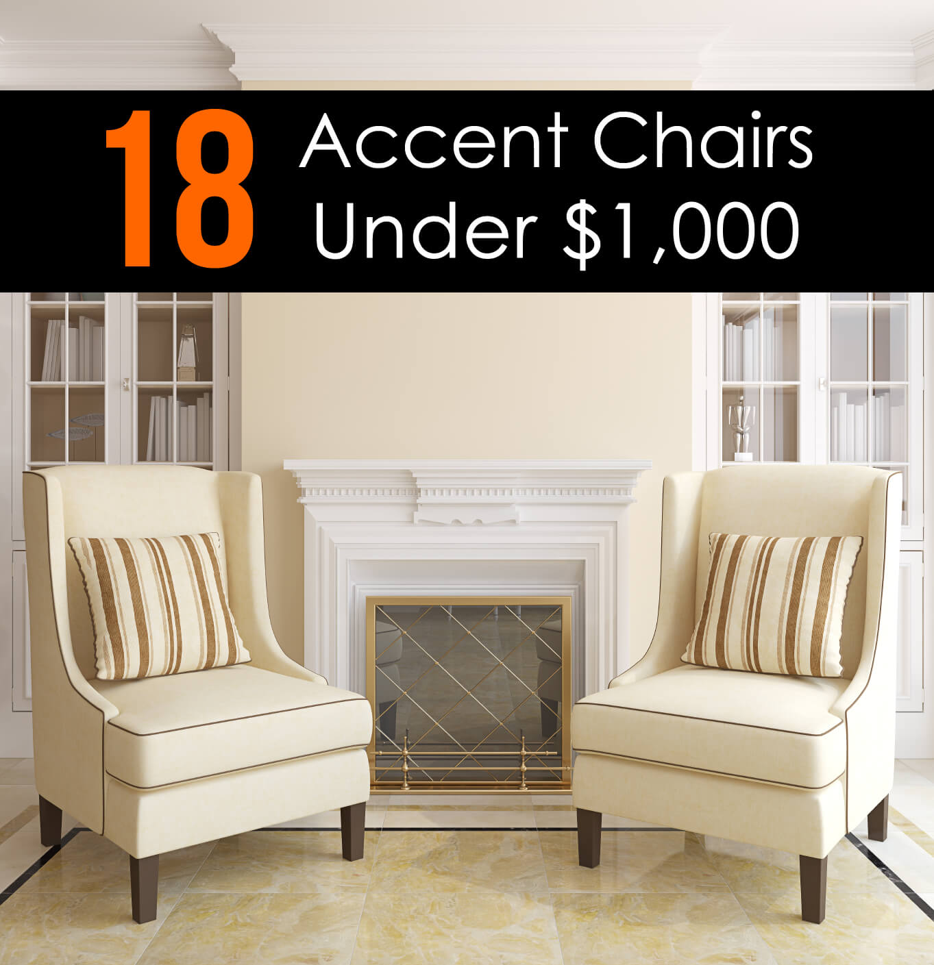 25 attractive accent chairs under 100 for 2017 for Great living room chairs