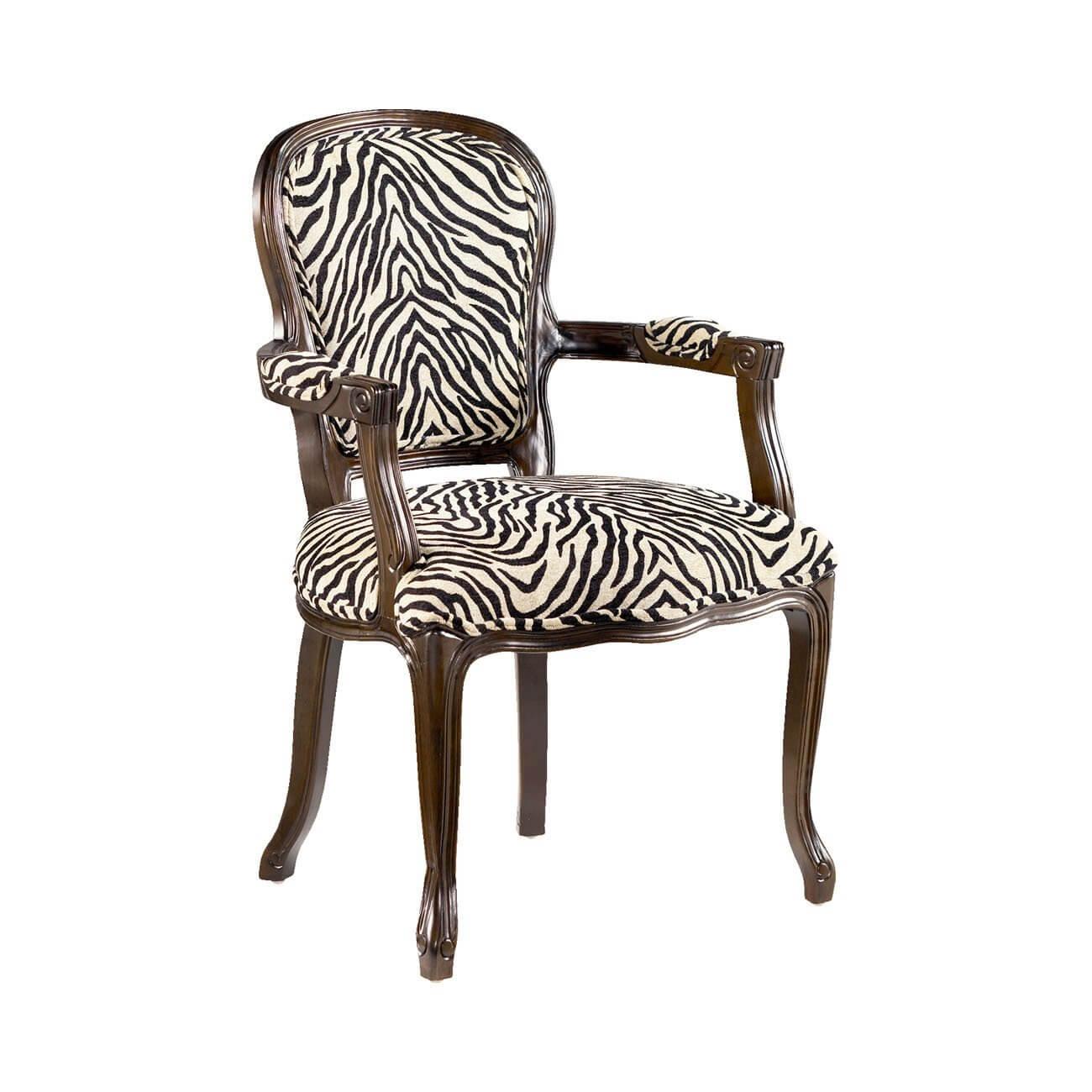 Fauteuil Zebra avec cadre en bois