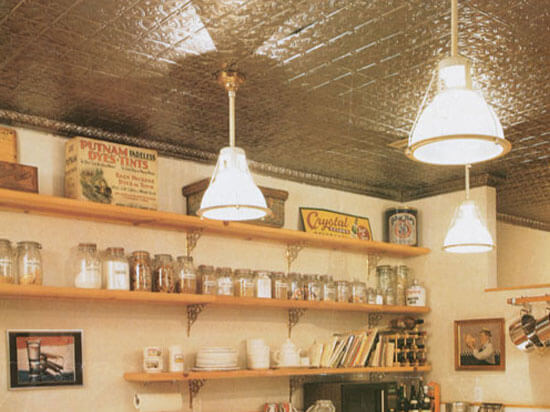 Genial Country Kitchen With Aluminum Ceiling Tiles