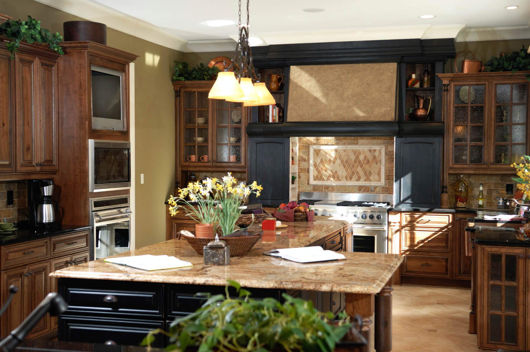 Dark Kitchens With Dark Wood OR Black Kitchen Cabinets - Color schemes for kitchens with dark cabinets