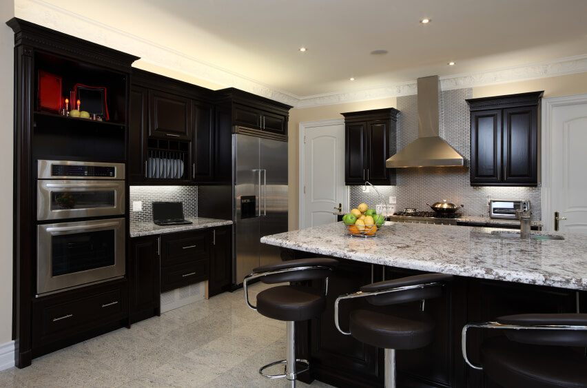 52 Dark Kitchens with Dark Wood OR Black Kitchen Cabinets (2019) Kitchen Cabinet Designs on european kitchen design, ceiling design, kitchen cabinets for small kitchens, kitchen design inspiration, kitchen islands, kitchen makeovers, kitchen backsplash, pantry design, kitchen cabinets before and after, kitchen columns, bed design, kitchen cupboards, kitchen shelf designs, kitchens by design, kitchen cabinets with drawers, bathroom design, mirror design, bedroom design, kitchen desk, kitchen open floor plan,