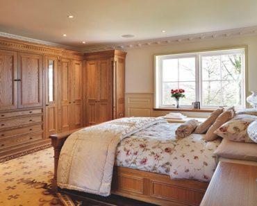 Master bedroom with impressive wood work