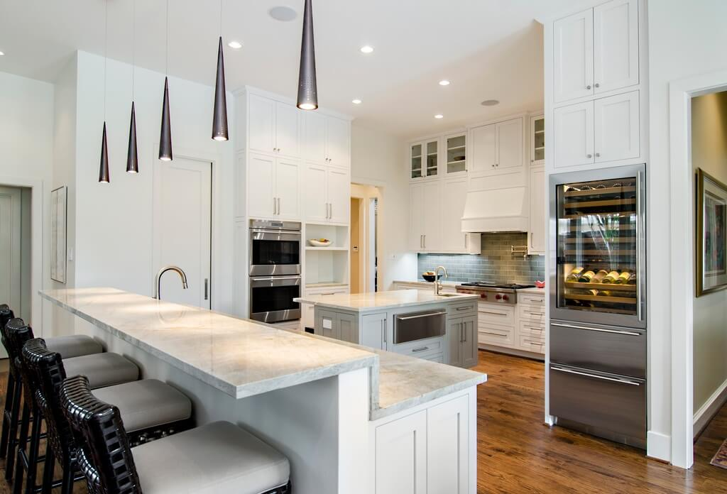 white kitchen with very tall cabinets floor to ceiling the amount - Luxury White Kitchens