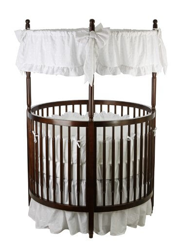 Circular design on this crib from Dream On Me allows for high visibility for parents.  sc 1 st  Home Stratosphere & 16 Beautiful Oval u0026 Round Baby Cribs (FOR UNIQUE NURSERY DECOR)