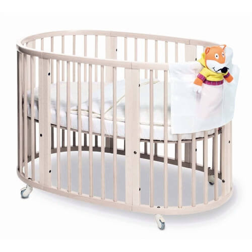 Here is the full size Sleepi crib from Stokke, designed for older babies  and small