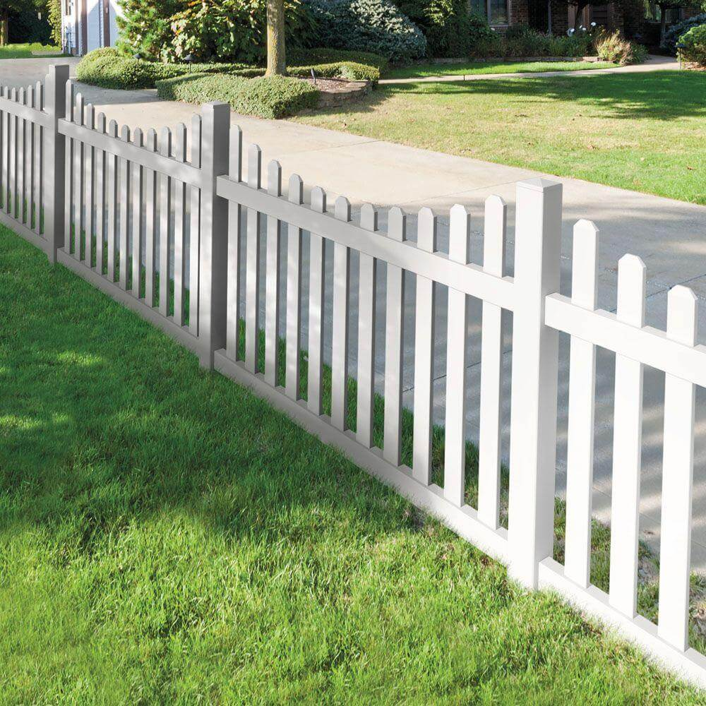 Marvelous White Dog Ear Fence Design