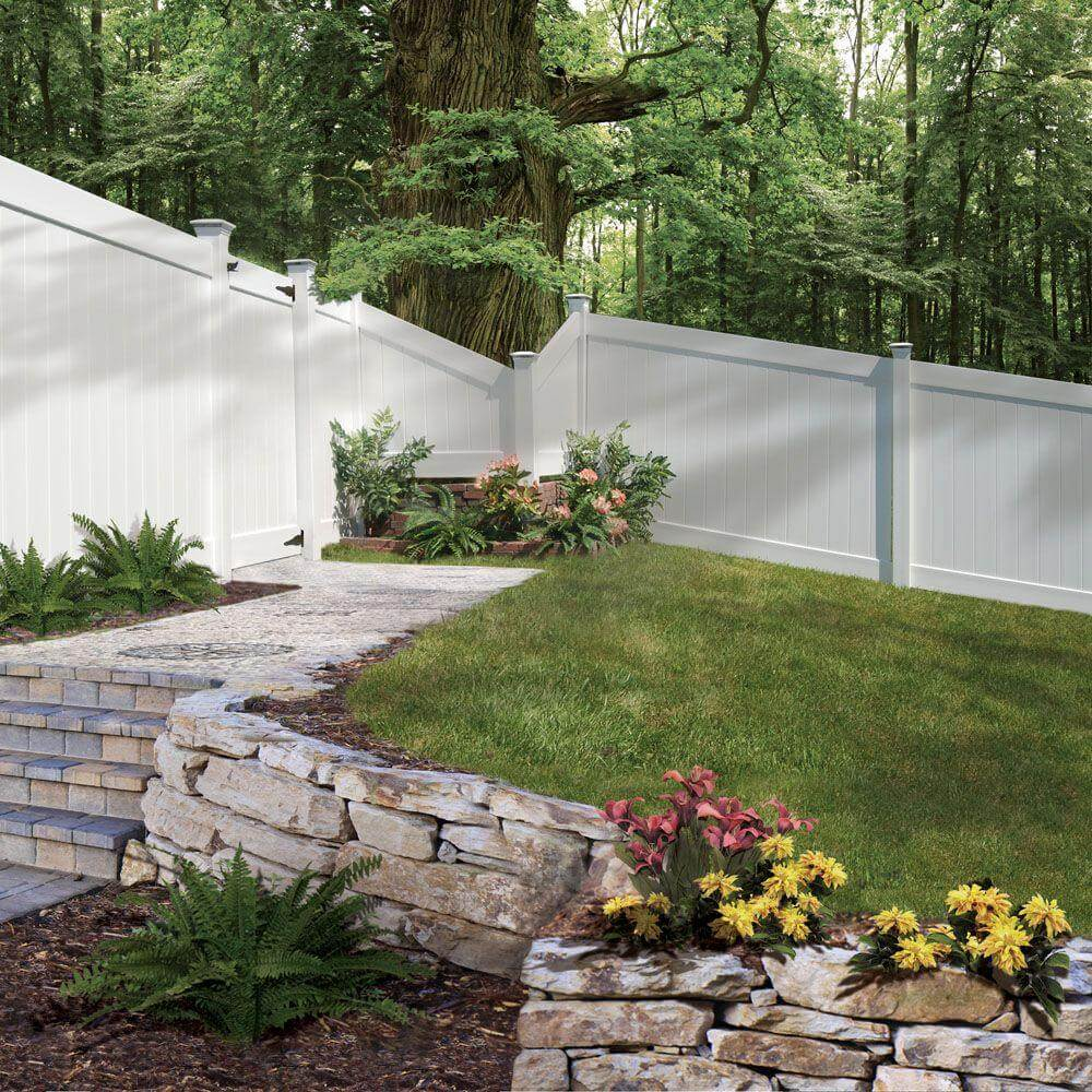 white vinyl fence - Fence Design Ideas