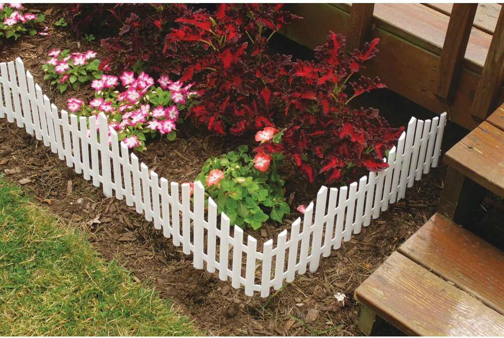 White Garden Fence & 75 Fence Designs Styles Patterns Tops Materials and Ideas