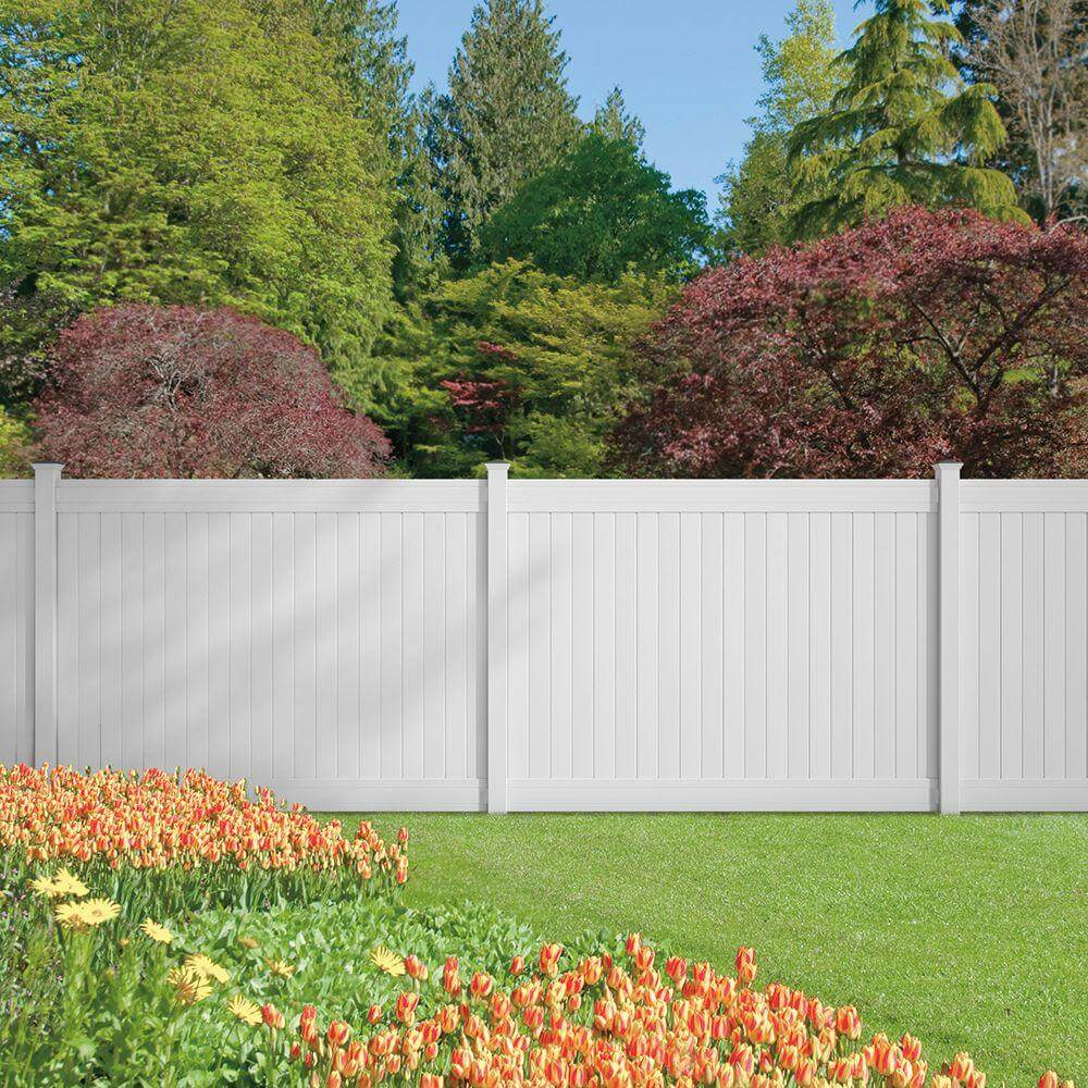 Privacy Fence Ideas For Front Yard Part - 15: 32-hd-security-and-privacy-white-backyard-fence