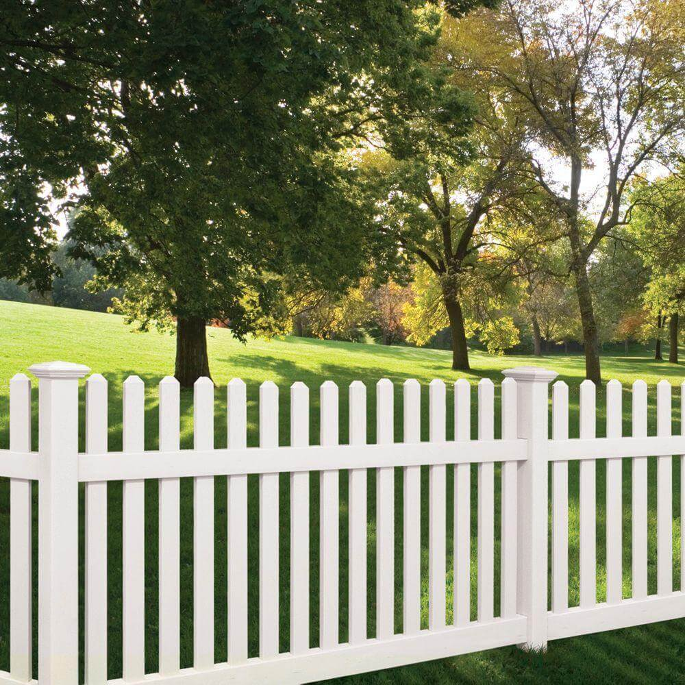 75 fence designs styles patterns tops materials and ideas white picket fence baanklon Gallery
