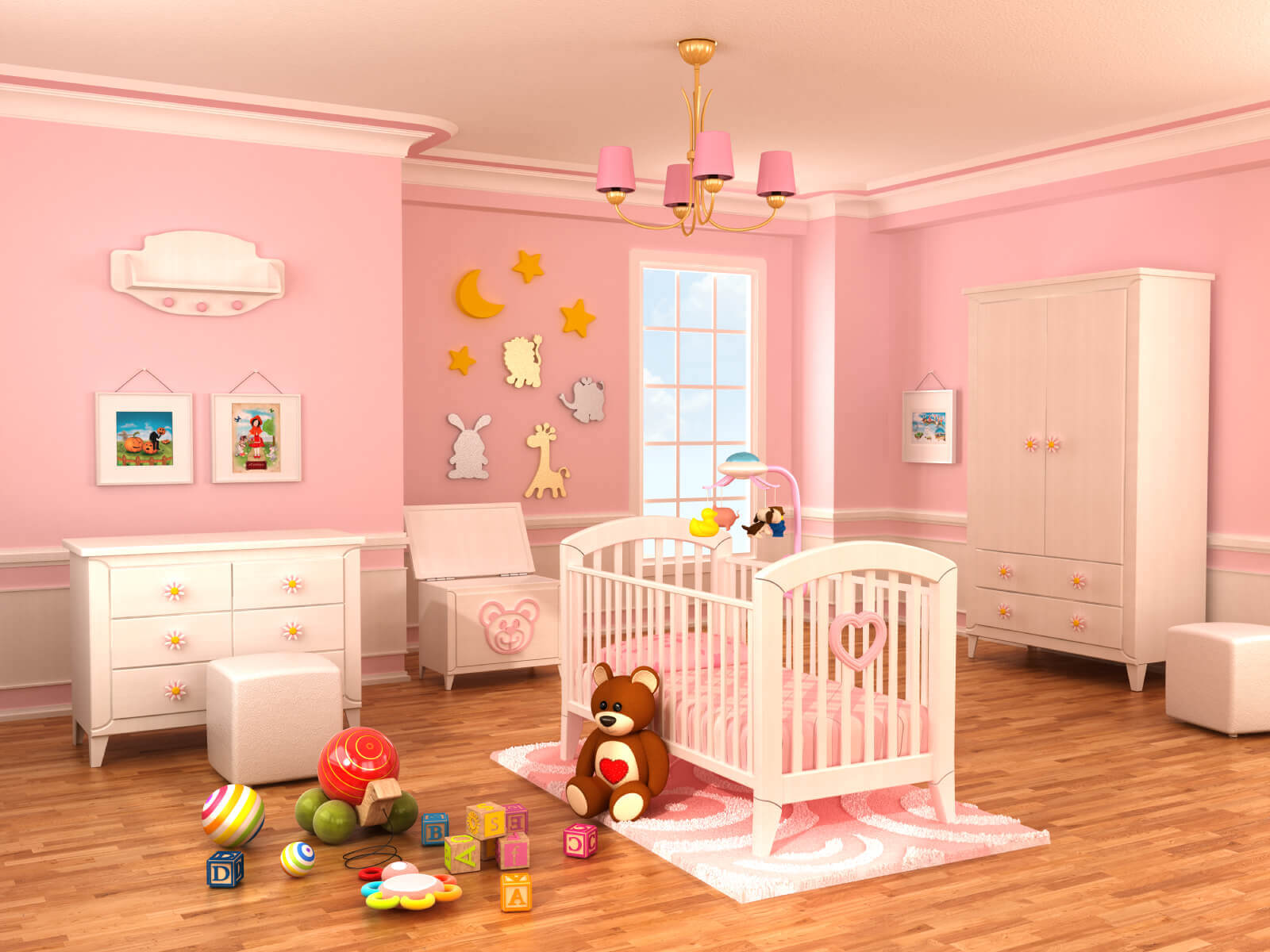 7 Inspiring Kid Room Color Options For Your Little Ones: 18 Baby Girl Nursery Ideas, Themes & Designs (Pictures