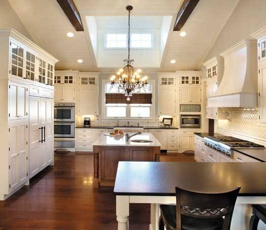 spacious white kitchen with huge skylight flooding the space with plenty of natural light kitchen - Luxury White Kitchens