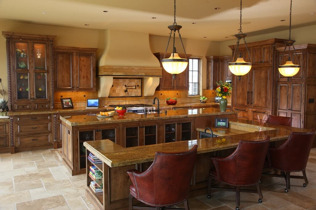Large Kitchen Island Designs And Plans: 30 Custom Luxury Kitchen Designs (Some $100K Plus