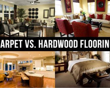 carpeting vs hardwood flooring text