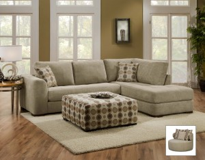 Lush Two Piece Sectional with Chaise (by Chelsea Home) : two piece sectional sofa with chaise - Sectionals, Sofas & Couches