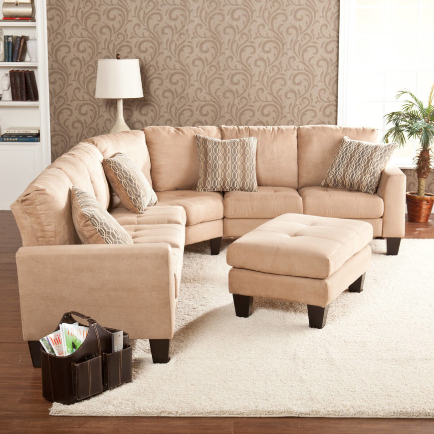 Light Mocha Transitional Sectional