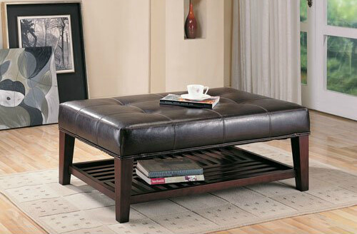 Exceptionnel This Large Rectangular Ottoman Reveals Its Nature As A Coffee Table More  Obviously Than Others,