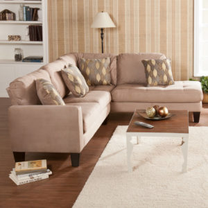 Earthy Grey Sectional with Chaise Lounge : elegant sectional sofas - Sectionals, Sofas & Couches