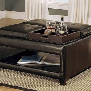 Ottoman Coffee Table Leather.36 Top Stylish Brown Leather Ottoman Coffee Tables