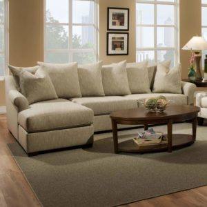 Beige Chaise Lounge Sectional with Pillows : elegant sectional sofa - Sectionals, Sofas & Couches