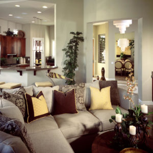 Featured living room with a sectional sofa