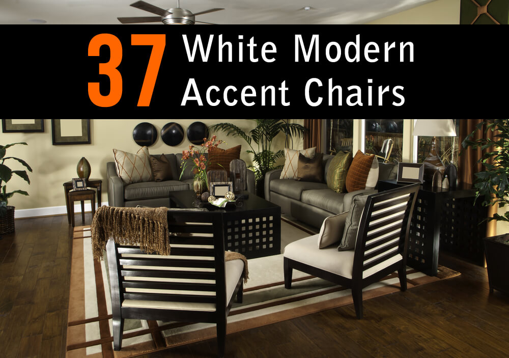 . 37 White Modern Accent Chairs for the Living Room