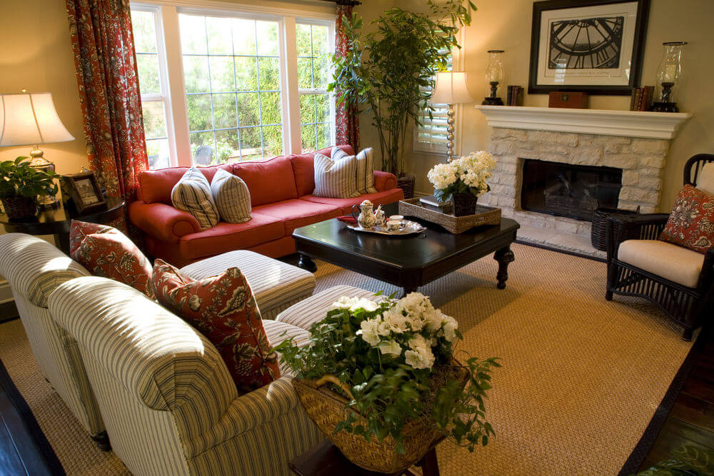 Red Living Room: 36 Elegant Living Rooms That Are Richly Furnished & Decorated