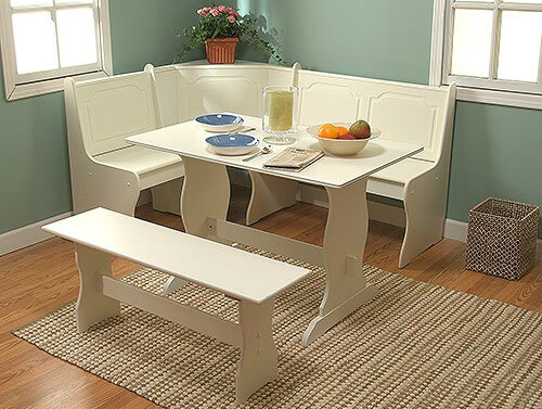 this is a complete set with l shaped bench table and separate bench that. beautiful ideas. Home Design Ideas