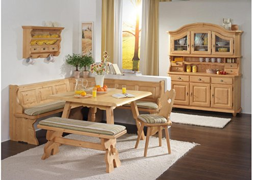 This Is A Solid Filled Spruce Wood Corner Dining Furniture Set With Large L