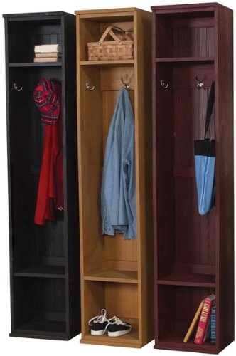 This is a mudroom locker system with 3 separate units. This is great because you can separate them or configure them however you like in your room. It's also kind of fun having different colors... of course it may not be so much fun if your kids all want the same color.
