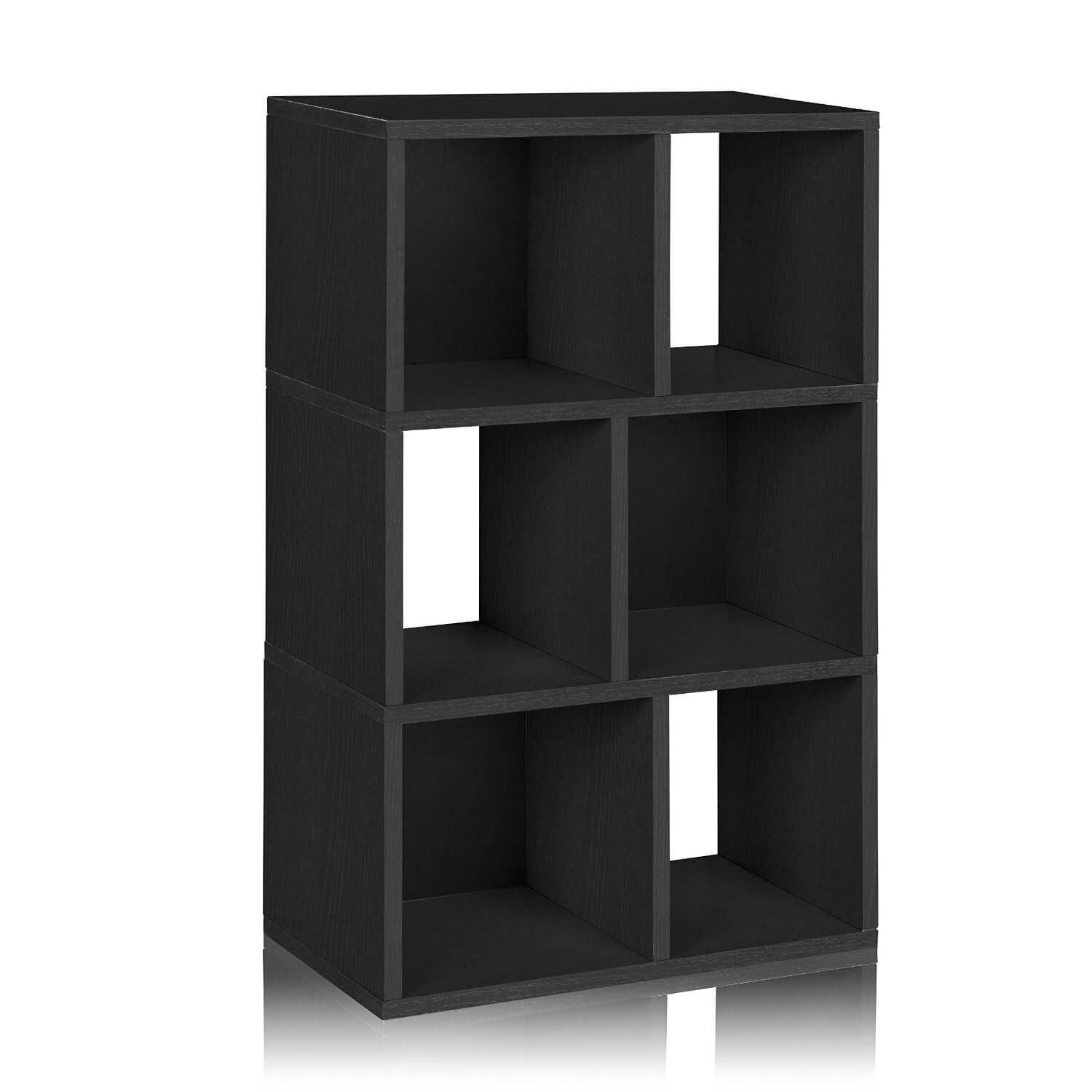 This Is A Simple Checkered Style 6 Cube Shelving Unit Standing 368 Inches Tall And