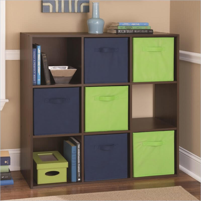 This Is A Whimsical 9 Cube Shelf Design With Soft Drawer Inserts Using Two