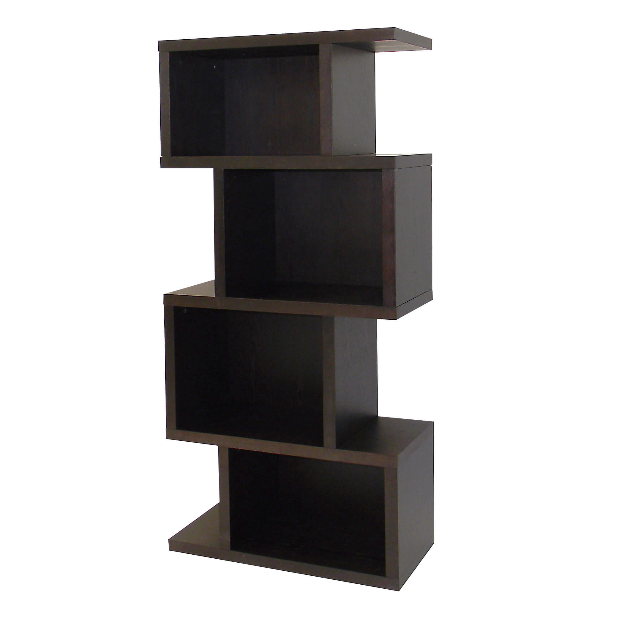 This Dark Birch Finished 4 Cube Shelf Is Perfect For Any Small Space That Will Offer