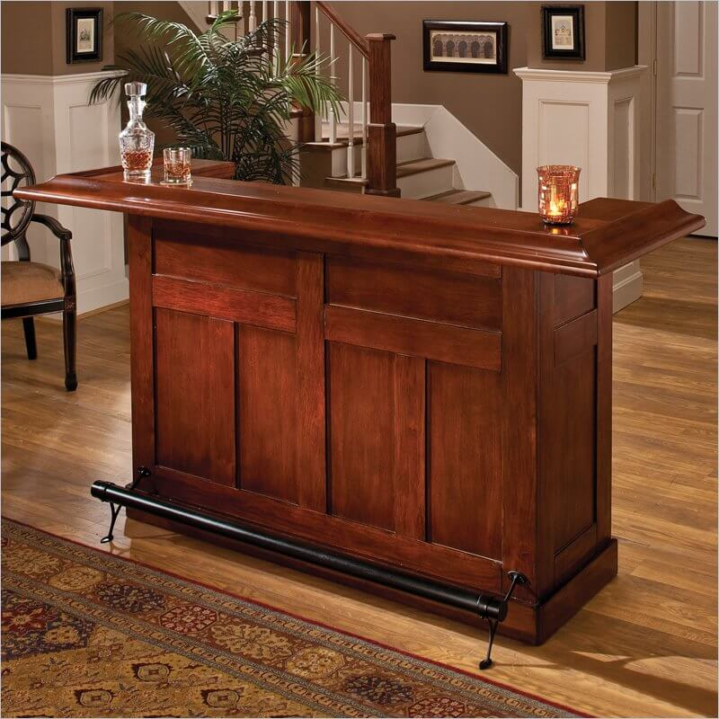This Plainly Designed Cherry Wood Home Bar Would Fit Well In A Contemporary  Home Design.