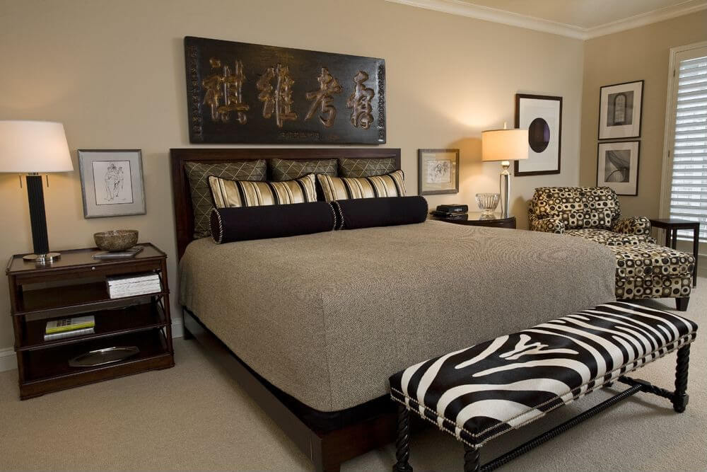 This is an interesting ex&le because the room is in earth tones predominately with the zebra & 12 Zebra Bedroom Décor Themes Ideas u0026 Designs (Pictures)